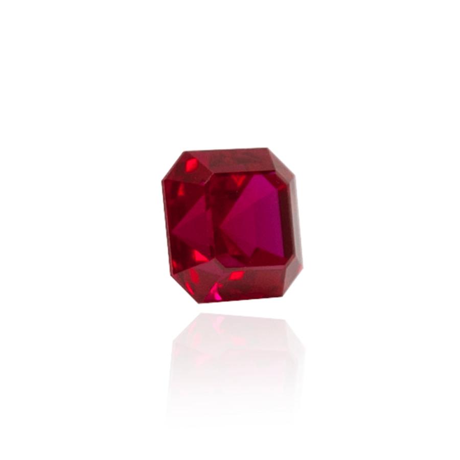 гидротермальный выращенный рубин голубиная кровь dark ruby корунд огранка ашер