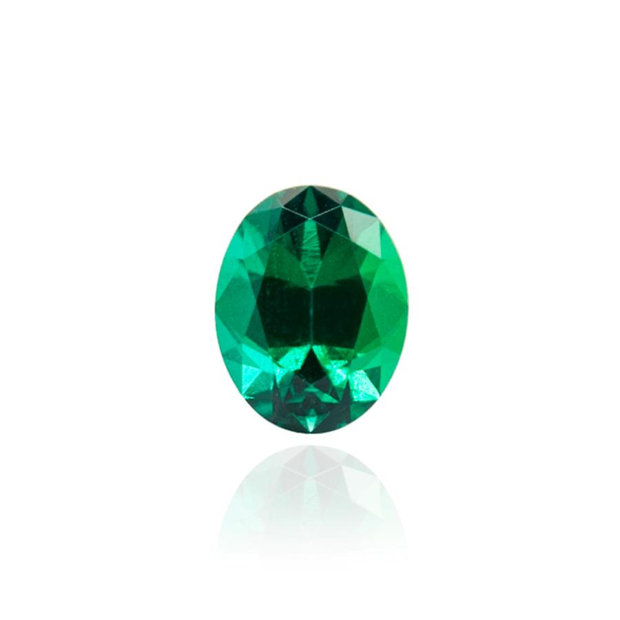 гидротермальный выращенный изумруд hydrothermal emerald замбийский изумруд форма камня овал огранка бриллиантовая