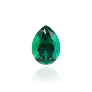 гидротермальный выращенный изумруд hydrothermal emerald замбийский изумруд форма камня груша капля огранка бриллиантовая