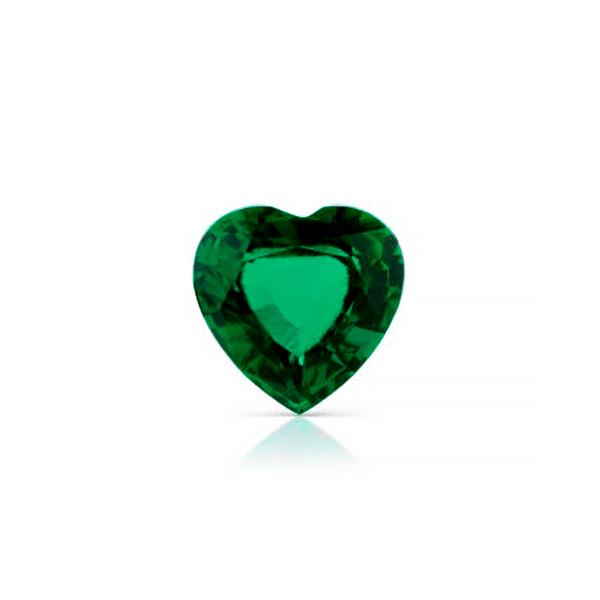 гидротермальный выращенный изумруд hydrothermal emerald замбийский изумруд огранка сердце ювелирные вставки в подарок