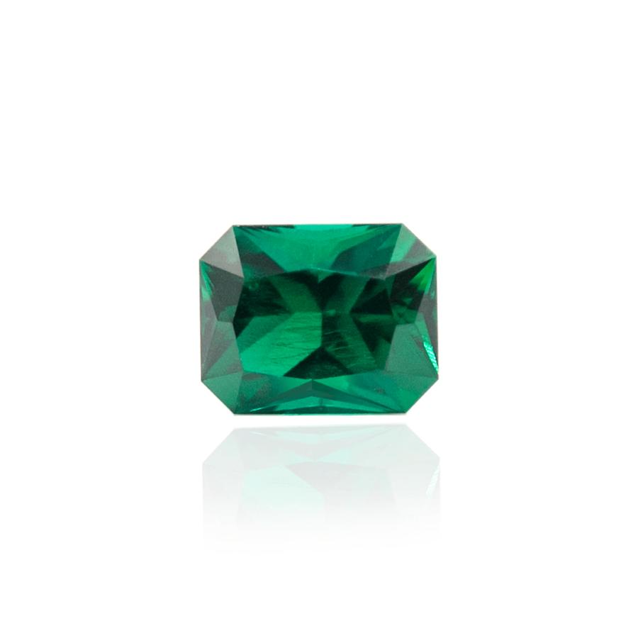 гидротермальный выращенный изумруд hydrothermal emerald замбийский изумруд форма октагон радиаон огранка принцесса