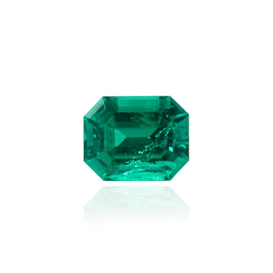 гидротермальный выращенный изумруд hydrothermal emerald замбийский изумруд форма октагон ступенчатая огранка