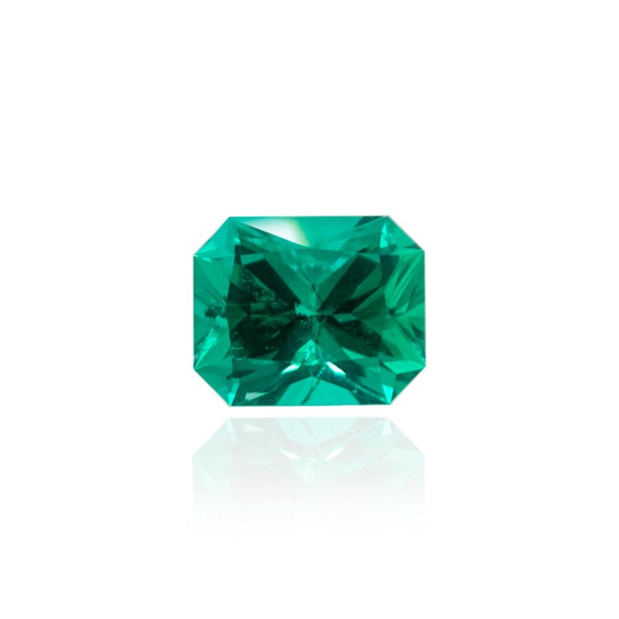 гидротермальный выращенный колумбийский изумруд  hydrothermal emerald форма октагон радиант огранка бриллиантовая