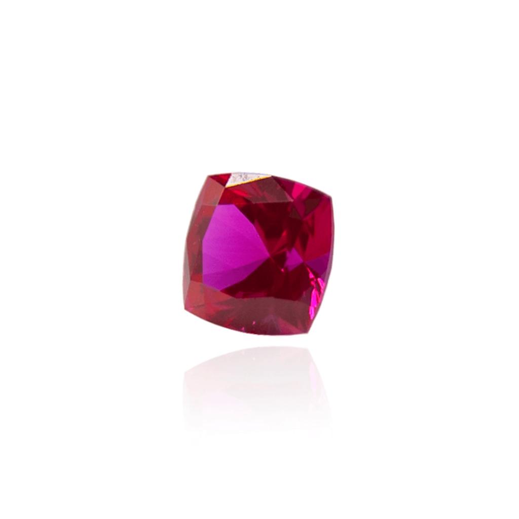 гидротермальный выращенный рубин ruby корунд огранка кушон