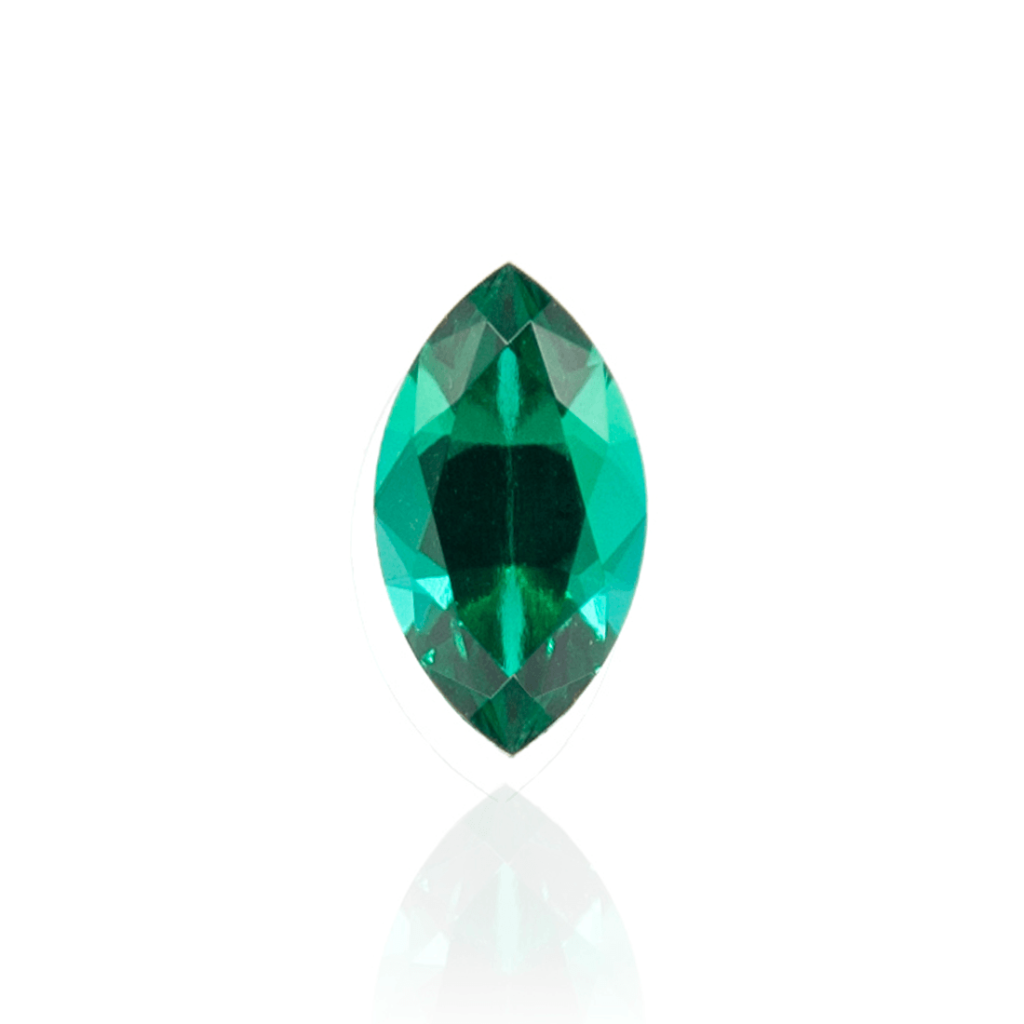 гидротермальный выращенный изумруд hydrothermal emerald замбийский изумруд огранка маркиз