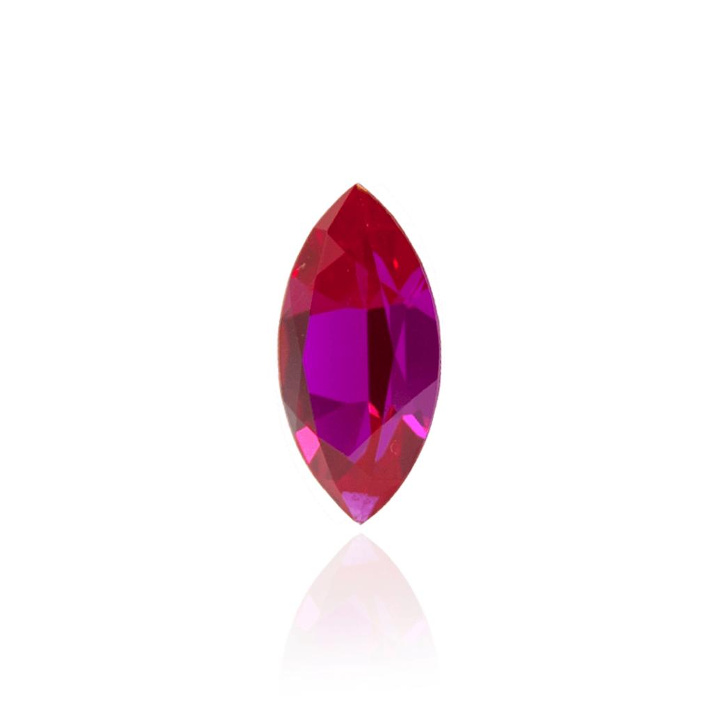 гидротермальный выращенный рубин ruby корунд огранка маркиз