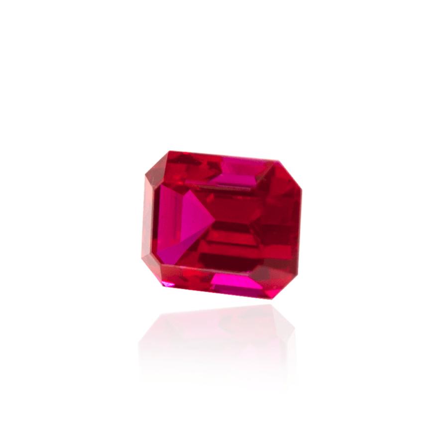 гидротермальный выращенный рубин ruby корунд октагон ступенчатая огранка