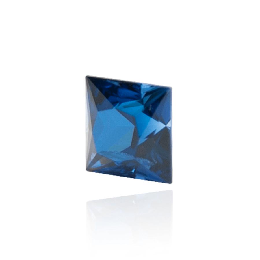 гидротермальный выращенный сапфир sapphire корунд огранка принцесса