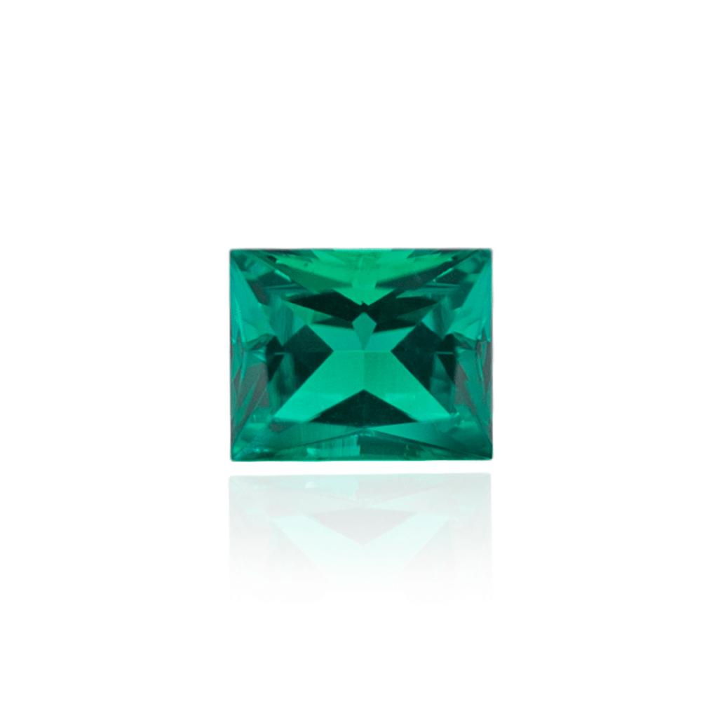 гидротермальный выращенный колумбийский изумруд emerald огранка багет