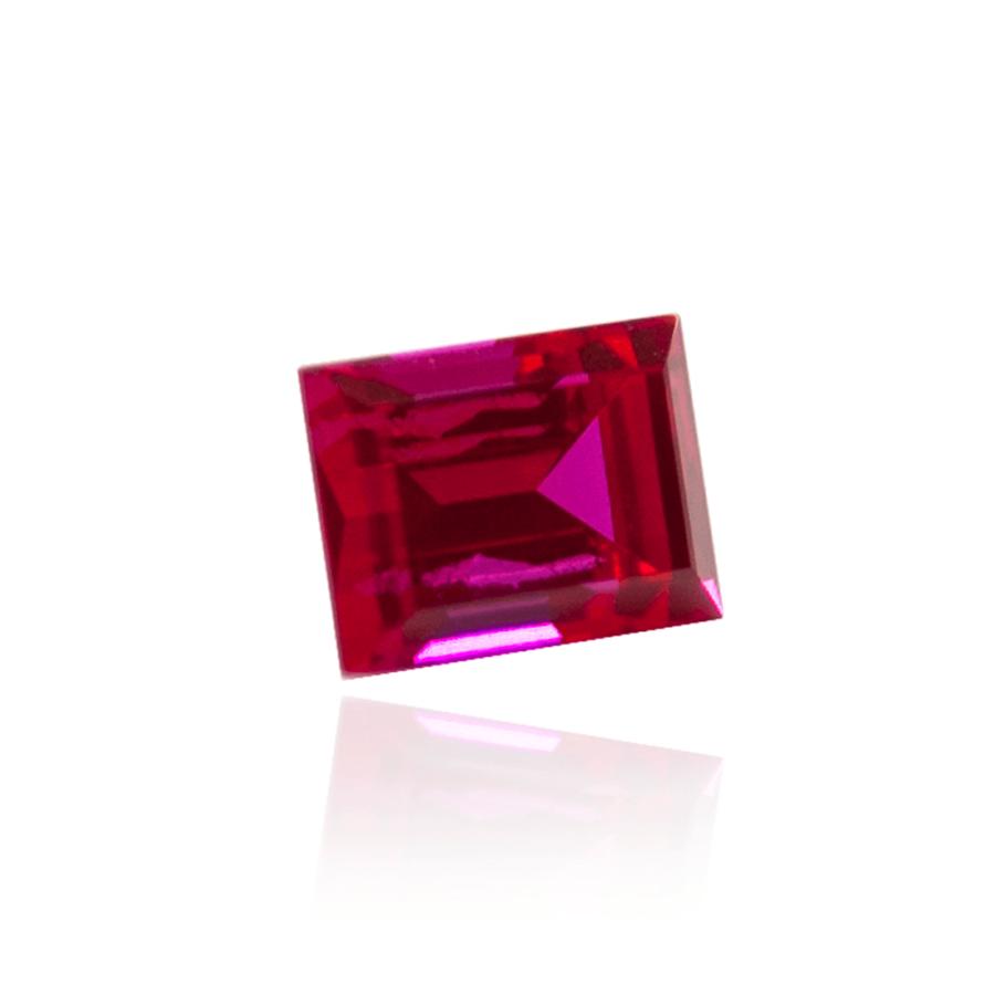 гидротермальный выращенный рубин ruby корунд форма камня багет огранка ступенчатая