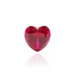 гидротермальный выращенный рубин ruby корунд огранка сердце
