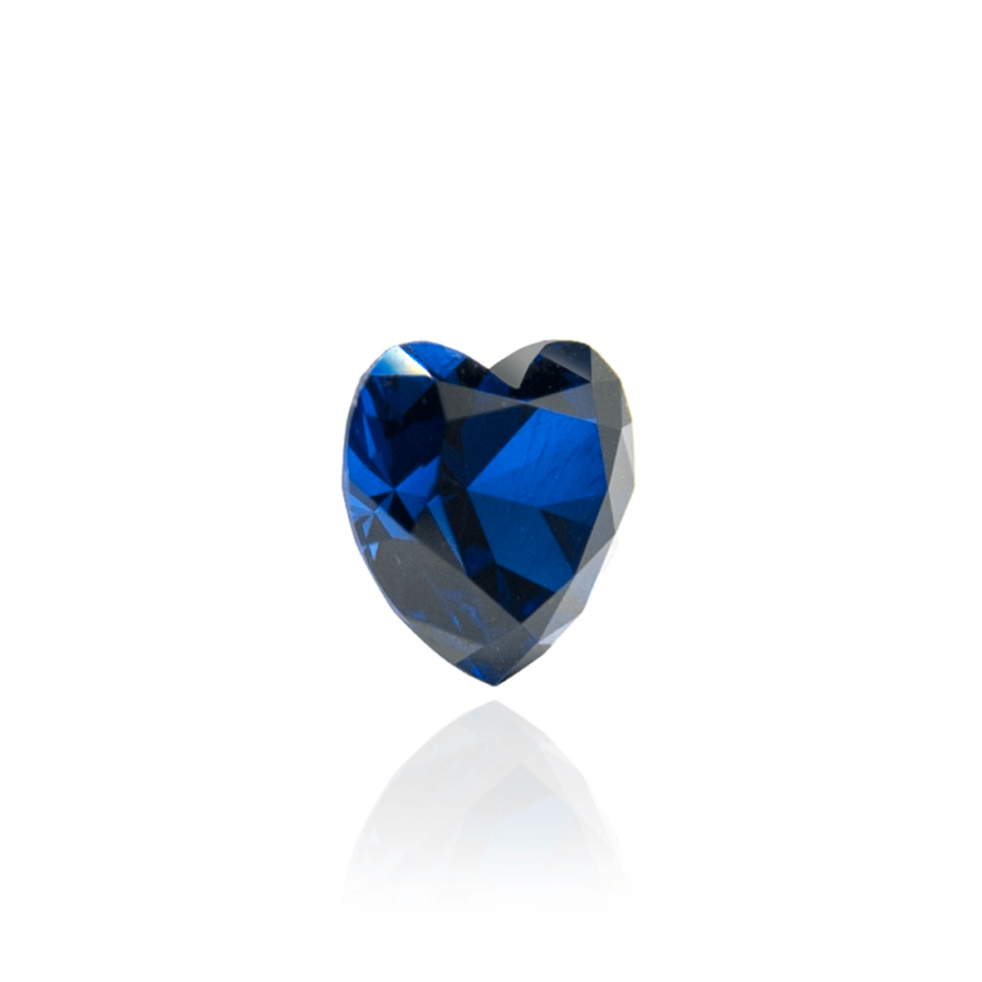 гидротермальный выращенный сапфир sapphire корунд огранка сердце