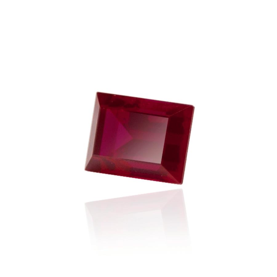 гидротермальный выращенный рубин голубиная кровь dark ruby корунд огранка бегет