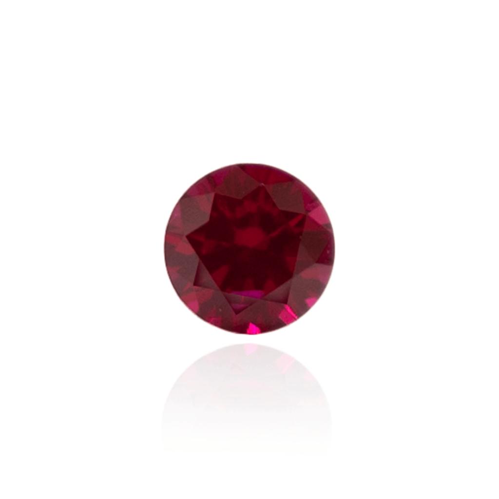 гидротермальный выращенный рубин голубиная кровь dark ruby корунд огранка круг