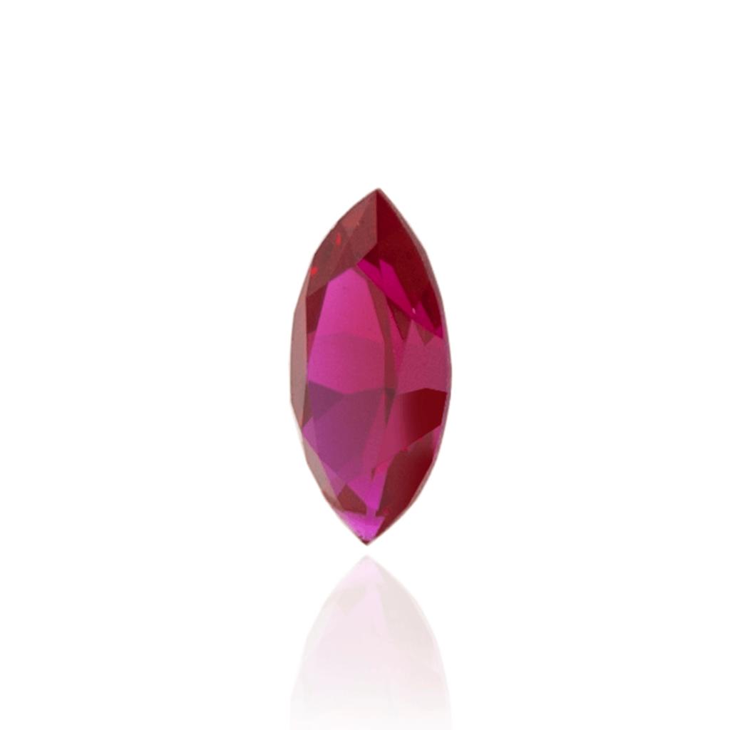 гидротермальный выращенный рубин голубиная кровь dark ruby корунд огранка маркиз маркиза
