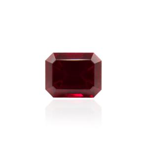 гидротермальный выращенный рубин голубиная кровь dark ruby корунд огранка принцесса октагон