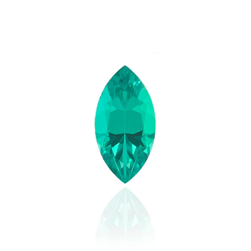 гидротермальный выращенный колумбийский изумруд  hydrothermal emerald форма маркиз