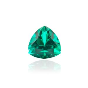 гидротермальный выращенный колумбийский изумруд emerald огранка триллион
