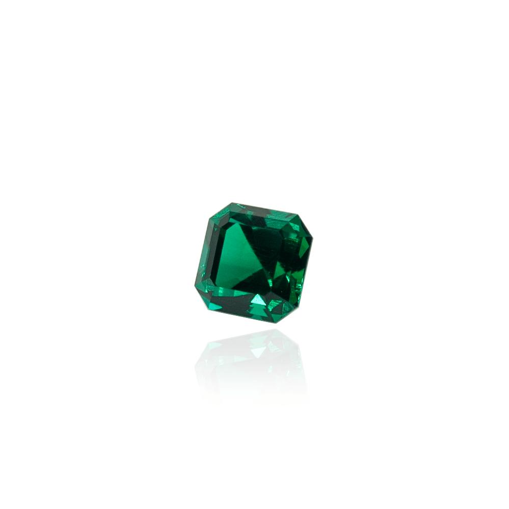 гидротермальный выращенный изумруд hydrothermal emerald замбийский изумруд форма камня ашер огранка ступенчатая