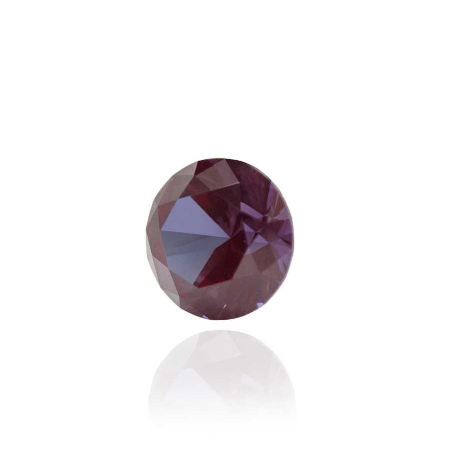 александрит реверс эффект выращенный александрит гидротермальный александрит alexandrite форма камня круг бриллиантовая огранк КР-57
