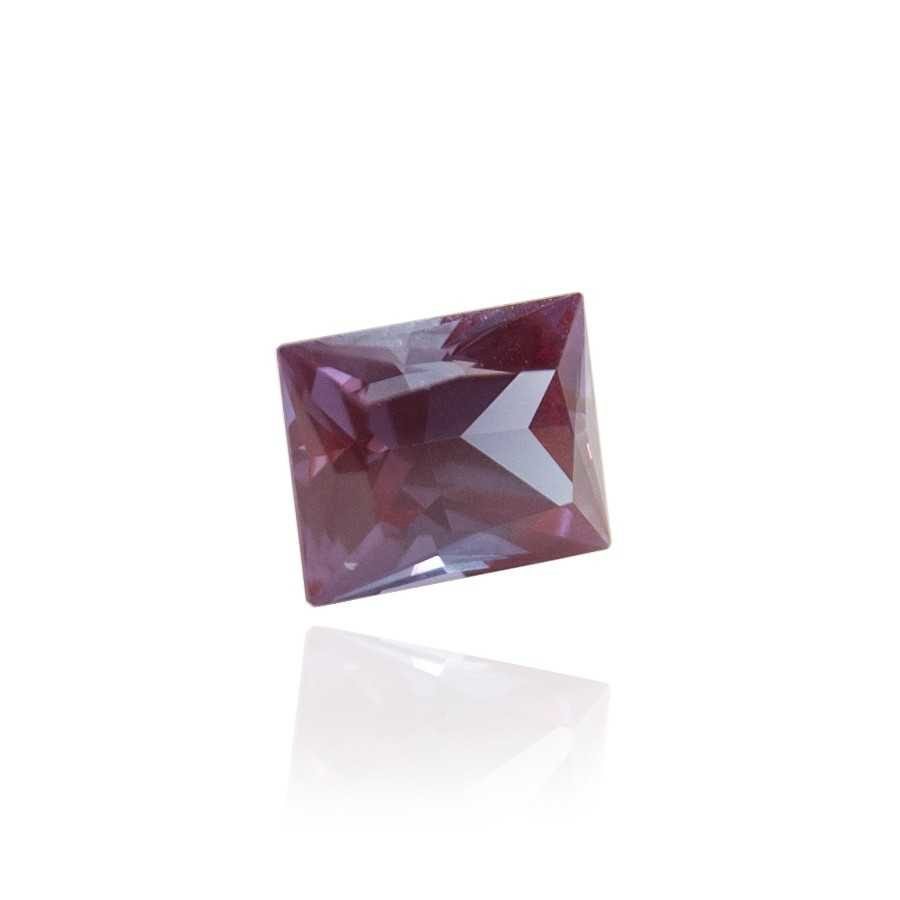 александрит реверс эффект выращенный александрит гидротермальный александрит alexandrite форма камня багет бриллиантовая огранка