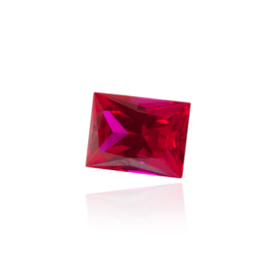 гидротермальный выращенный рубин ruby корунд форма камня багет огранка принцесса