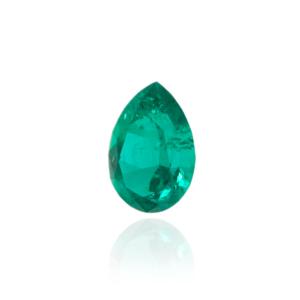 гидротермальный выращенный колумбийский изумруд  hydrothermal emerald форма груша капля бриллиантовая огранка