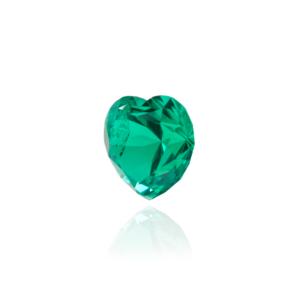 гидротермальный выращенный колумбийский изумруд  hydrothermal emerald форма сердце ювелирные вставки в подарок