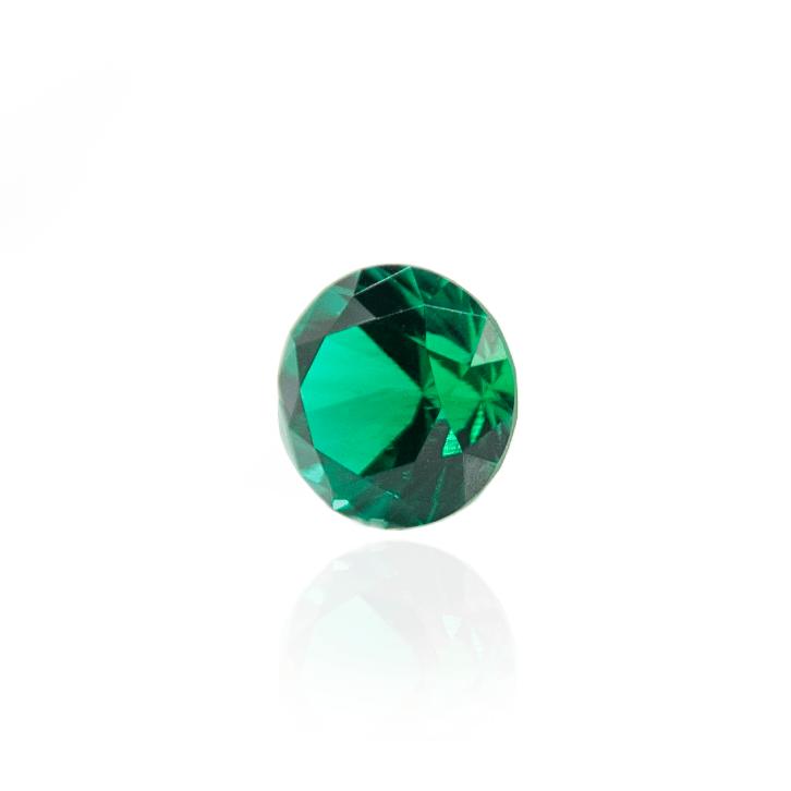 гидротермальный выращенный изумруд hydrothermal emerald замбийский изумруд форма камня круг огранка бриллиантовая