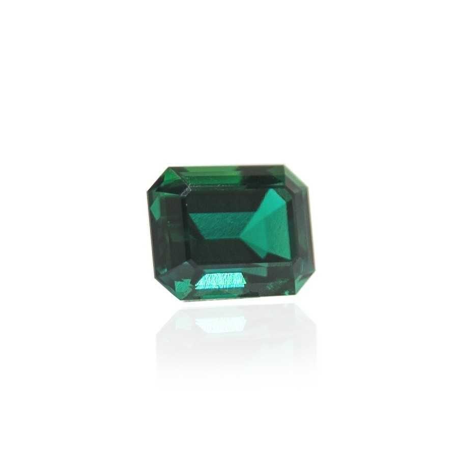 гидротермальный выращенный изумруд hydrothermal emerald замбийский изумруд форма камня октагон огранка изумрудная ступенчатая