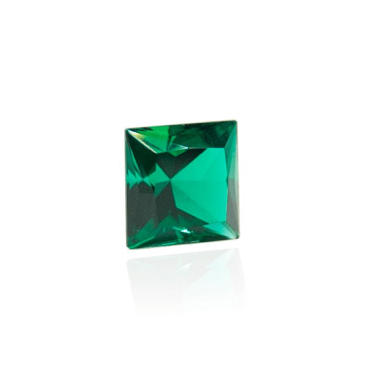 гидротермальный выращенный изумруд hydrothermal emerald замбийский изумруд огранка принцесса каре квадрат