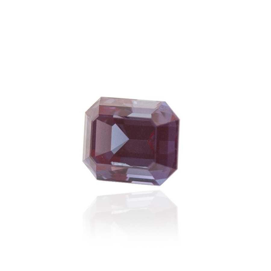 александрит реверс эффект выращенный александрит гидротермальный александрит alexandrite форма камня октагон ступенчатая огранка