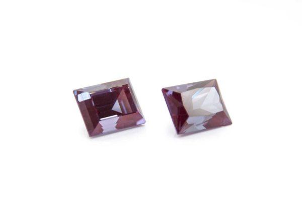 александрит реверс эффект выращенный александрит alexandrite багет ступенчатая бриллиантовая огранка